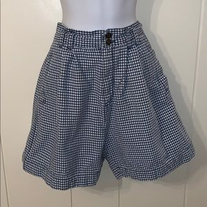 Vtg White Stag blue & white checked shorts